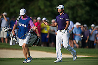 Jason Day in action during the opening round of the US PGA Championship at Valhalla (Photo: Anthony Powter) Picture: Anthony Powter / www.golffile.ie