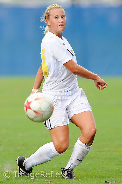 28 September 2008:  FIU midfielder Cortney Bergin (24) handles the ball during the FIU 1-1 tie with Western Kentucky at University Park in Miami, Florida.