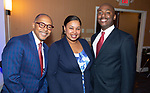 WATERBURY ,  CT-101219JS40-  Event keynote speaker Dr. Jeff Gardere with Aza Mosley and her husband Sean Mosley,  at the NAACP of Greater Waterbury's 55th annual Mind Body and Soul Freedom Fund Dinner held Saturday at the Courtyard Marriott in Waterbury. <br />  Jim Shannon Republican-American