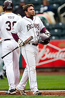 Aaron Conway (11) of the Missouri State Bears heads back to the dugout after scoring during a game against the Oral Roberts Golden Eagles on March 27, 2011 at Hammons Field in Springfield, Missouri.  Photo By David Welker/Four Seam Images