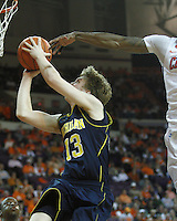 Nov 30, 2010; Clemson, SC, USA; Michigan Wolverines guard Matt Vogrich (13) shoots a lay-up in the game against the Clemson Tigers at Littlejohn Coliseum. Mandatory Credit: Daniel Shirey/WM Photo -US PRESSWIRE
