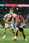 Angel Correa (R) of Atletico de Madrid competes for the ball with Gorka Elustondo Urkioka of Rayo Vallecano during the La Liga 2018-19 match between Atletico de Madrid and Rayo Vallecano at Wanda Metropolitano on August 25 2018 in Madrid, Spain. Photo by Diego Souto / Power Sport Images