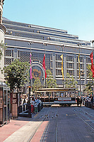 San Francisco: San Francisco Centre, Market at Fifth & Powell, includes Nordstrom's & many specialty stores.  Photo '89.