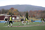 SALEM, VA - DECEMBER 3:Pregame warmups before theDivision III Men's Soccer Championship held at Kerr Stadium on December 3, 2016 in Salem, Virginia. Tufts defeated Calvin 1-0 for the national title. (Photo by Kelsey Grant/NCAA Photos)
