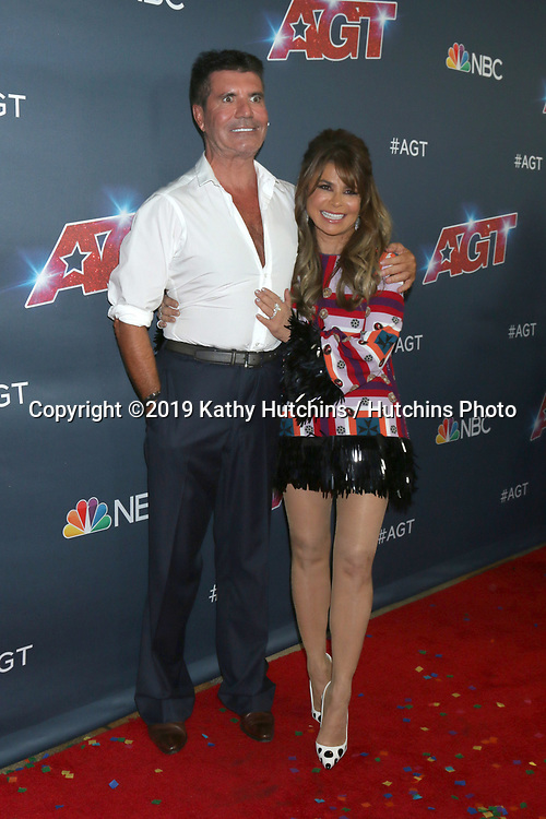 """LOS ANGELES - SEP 18:  Simon COwell, Paula Abdul at the """"America's Got Talent"""" Season 14 Finale Red Carpet at the Dolby Theater on September 18, 2019 in Los Angeles, CA"""