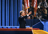 United States President Jimmy Carter delivers his speech accepting his party's nomination for reelection as President of the United States at the 1980 Democratic National Convention in Madison Square Garden in New York, New York on August 13, 1980.<br /> Credit: Howard L. Sachs / CNP