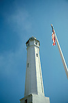 CA: Alcatraz, California, lighthouse, San Francisco Bay, 2005 .Image: caalcatraz103..Photo Copyright: Lee Foster, lee@fostertravel.com, www.fostertravel.com, (510) 549-2202.