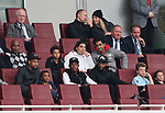 Arsenal's Francis Coquelin, Hector Bellerin and Alexandre Lacazette watch during the premier league 2 match at the Emirates Stadium, London. Picture date 21st August 2017. Picture credit should read: David Klein/Sportimage