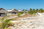 Accommodation on the beachfront on the remote island of Kiritimati in Kiribati