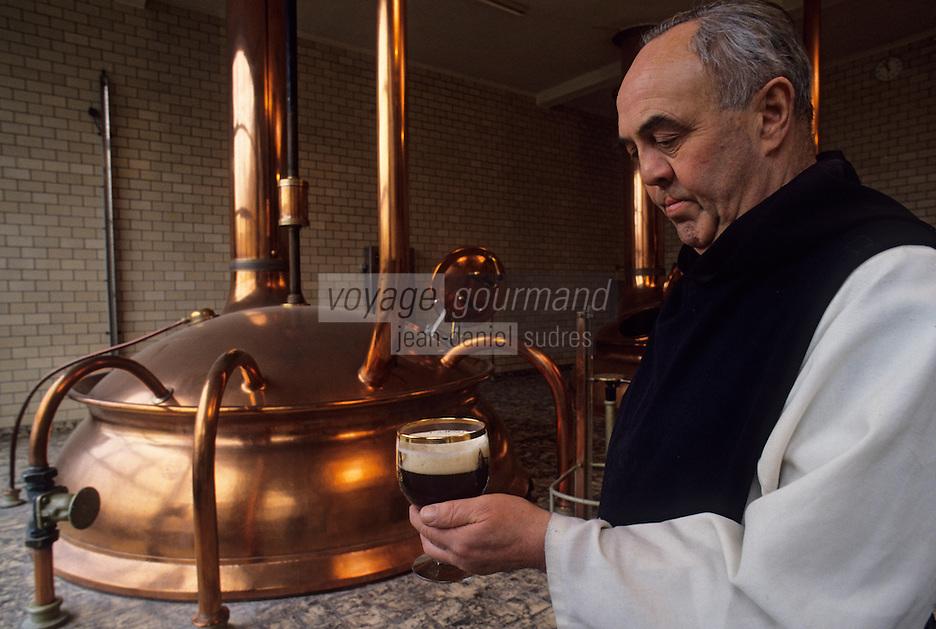Europe/Belgique/Wallonie/Province de Hainaut/Env de Chimay : Abbaye de Scourmont - La brasserie Chimay - Le père Louis (brasseur) Bière Trappiste