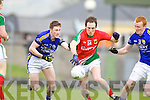 Johnathan Lyne and Johnny Buckley Kerry in action against Alan Dillon Mayo in the National Football League in Austin Stack Park on Sunday..