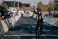 another victory for Tom Pidcock (GBR/U23/Telenet Fidea Lions)<br /> <br /> U23 Men's race<br /> Superprestige Gavere / Belgium 2017