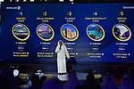 Dubai Tour 2018: The official route and the new jerseys of the Dubai Tour&rsquo;s 5th edition were unveiled during a big show in Al Mustaqbal Street at City Walk, where the 2018 race will finish. Dubai, United Arab Emirates. 18th December 2017.<br /> Picture: Dubai Sports Council/ Karappan Mohamed Hanifa | Cyclefile<br /> <br /> <br /> All photos usage must carry mandatory copyright credit (&copy; Cyclefile | Karappan Mohamed Hanifa)