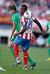 Atletico de Madrid's Luis Perea against Racing de Santander's Julian Luque during La Liga Match. September 18, 2011. (ALTERPHOTOS/Alvaro Hernandez)