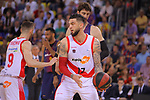 League ACB-ENDESA 2017/2018.<br /> PlayOff-Semifinal-Game: 3<br /> FC Barcelona Lassa vs Kirolbet Baskonia: 67-65.<br /> Vincent Poirier vs Ante Tomic.