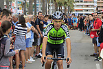 Óscar Rodríguez Garaicoechea (ESP) Euskadi-Murias arrives at sign on before the start of Stage 4 of La Vuelta 2019 running 175.5km from Cullera to El Puig, Spain. 27th August 2019.<br /> Picture: Eoin Clarke | Cyclefile<br /> <br /> All photos usage must carry mandatory copyright credit (© Cyclefile | Eoin Clarke)