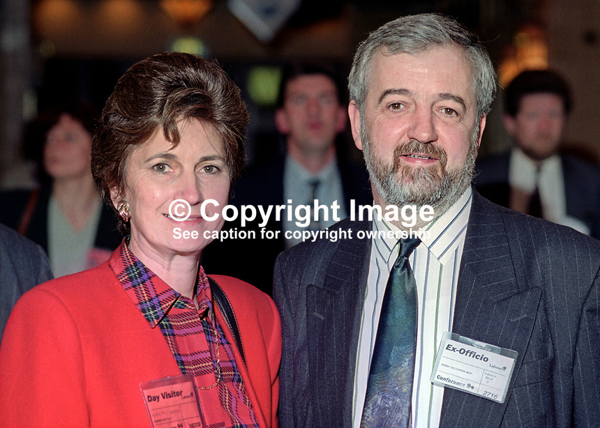 Henry McCubbin, MEP, Labour Party, UK, taken annual conference, September 1994, with his wife. 199409002<br />
