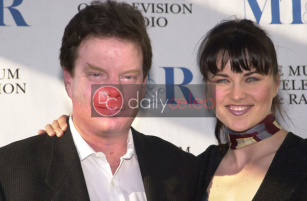XENA FINAL EPISODE:  Viewing party for the series <br />finale of &quot;Xena: Warrior Princess&quot; at the Museum of Radio<br />and Television, Beverly Hills, 6-19-01<br /><br />Photo by David Edwards/Newsflash Pictures  818-249-4998<br /><br /> Robert Tapert, Lucy Lawless