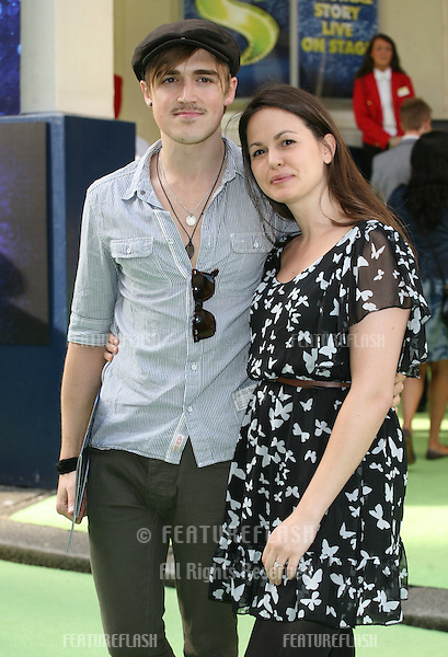 Tom Fletcher and Giovanna Falcone attending the Shrek The Musical Press Night, at the The Theatre Royal, London. 14/06/2011  Picture by: Alexandra Glen / Featureflash