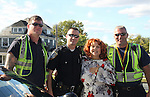 Brenda Vaccaro with local police on set - Crackers - an Independent Short Film which is a dark comedy about an Italian chef Gus (Vincent D'Onofrio) and his wife Cat (BethAnn Bonner) who live are turned upside down by his mother-in-law Bidelia (Brenda Vaccaro) as it is filmed in South Amboy, New Jersey. These photos were taken on Sept. 16 and 17, 2010 on set. (Photo by Sue Coflin/Max Photos)