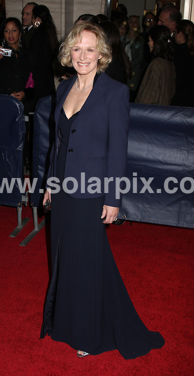 **ALL ROUND PICTURES FROM SOLARPIX.COM**.**SYNDICATION RIGHTS FOR UK, SPAIN, PORTUGAL, AUSTRALIA, S.AFRICA & DUBAI (U.A.E) ONLY**.The 35th Annual Film Society of Lincoln Center Gala Tribute to Meryl Streep at the Green Room in Avery Fisher Hall in New York  USA  .This pic:Glenn Close.JOB REF:6143-PHZ/Janet Mayer          DATE:14_04_08 .**MUST CREDIT SOLARPIX.COM OR DOUBLE FEE WILL BE CHARGED* *UNDER NO CIRCUMSTANCES IS THIS IMAGE TO BE REPRODUCED FOR ANY ONLINE EDITION WITHOUT PRIOR PERMISSION*