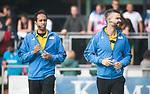 AMSTELVEEN - Scheidsrechters Frank Heijster en Jacir Soares de Brito. . Hoofdklasse competitie heren. Pinoke-SCHC (0-1) . COPYRIGHT  KOEN SUYK