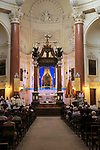 Religious service inside the Carmelite church, Basilica of Our Lady of Mount Carmel, Valletta, Malta