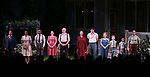 "Michael Hayden, Chinasa Ogbuagu, Hampton Fluker, Francesca Carpanini, Tracy Letts, Annette Bening, Benjamin Walker, Jenni Barber, Monte Green, Alexander Bello and Nehal Joshi during the Broadway Opening Night Curtain Call for ""All My Sons"" at The American Airlines Theatre on April 22, 2019  in New York City."