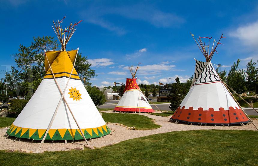 Buffalo Bill Historical Center. Cherokee Indian tee pees, Monument Valley, Utah