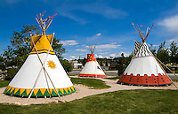 Buffalo Bill Historical Center. Cherokee Indian tee pees, Monument Valley, Utah