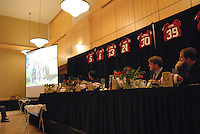 14 January 2007: Guests at the annual football banquet at McCaw Hall in Stanford, CA.