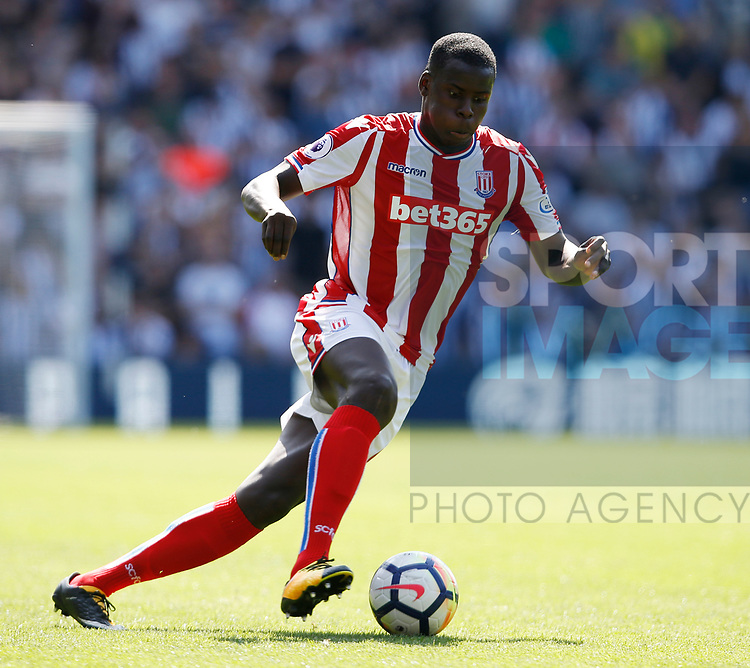 Kurt Zouma of Stoke City during the premier league match at the Hawthorn's Stadium, West Bromwich. Picture date 27th August 2017. Picture credit should read: Simon Bellis/Sportimage