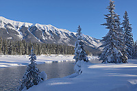 Kootenay River and the MItchell Range (Canadian Rocky Mountains), Kootenay National Park, British Columbia, Canada