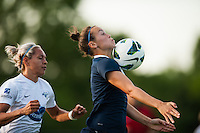 Sky Blue FC defender Caitlin Foord (4). Sky Blue FC defeated the Boston Breakers 5-1 during a National Women's Soccer League (NWSL) match at Yurcak Field in Piscataway, NJ, on June 1, 2013.