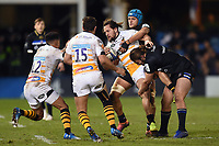 Michele Campagnaro of Wasps takes on the Bath Rugby defence. Heineken Champions Cup match, between Bath Rugby and Wasps on January 12, 2019 at the Recreation Ground in Bath, England. Photo by: Patrick Khachfe / Onside Images