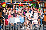 Christian O'Connor, Abbeydorney (seated centre) celebrated his 21st birthday last Saturday night in the Huddle bar, Strand Rd, Tralee with many friends and family.