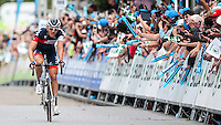 Picture by Alex Whitehead/SWpix.com - 11/09/2014 - Cycling - 2014 Friends Life Tour of Britain - Stage 5, Exmouth to Exeter - IAM Cycling's Matthias Brandle wins Stage 5 in Exeter.