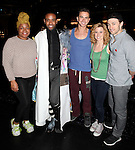 Da'Vine Joy Randolph, James Brown III ,Richard Fleeshman, Caissie Levy & Bryce Pinkham.attending the Broadway Opening Nigh Gypsy Robe Ceremony for 'GHOST' honoring recepient James Brown III at the Lunt-Fontanne Theater on 4/23/2012 in New York City.