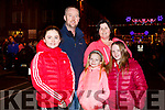Kenneth, Sandra, Emma and Jeanie O'Sullivan and Ava Canty from Lixnaw, at the firework display in Denny St on New Years Eve