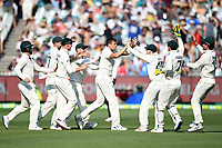 27th December 2019; Melbourne Cricket Ground, Melbourne, Victoria, Australia; International Test Cricket, Australia versus New Zealand, Test 2, Day 2; Australian Players celebrates a wicket that was eventually overturned - Editorial Use