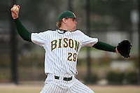 March 17, 2010:  Pitcher Kyle Kingsley (29) of North Dakota State University Bison vs. Long Island University at Lake Myrtle Park in Auburndale, FL.  Photo By Mike Janes/Four Seam Images