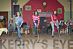 Aoife Griffin, Jesse Minehane and Aoife Griffin dancing the brush dance at the Rambling House in Fossa Community Centre on Friday night