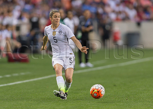 21.02.2016. Houston, TX, USA.  USA Defender Kelley O'Hara (5) during the Women's Olympic qualifying soccer final match between Canada and USA at BBVA Compass Stadium in Houston, Texas.