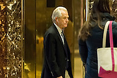 President-elect Donald' Trumps pick for head of the National Trade Council Peter Navarro is seen upon his arrival in the lobby of Trump Tower in New York, NY, USA on January 5, 2017. <br /> Credit: Albin Lohr-Jones / Pool via CNP