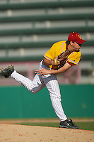 March 16 2009: Dane Yoder of the Winthrop Eagles during game against the USC Trojans at Dedeaux Field in Los Angeles,CA.  Photo by Larry Goren/Four Seam Images