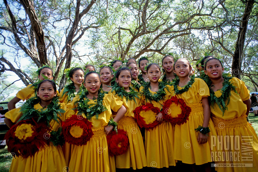 Halau ready to perform at Ka Hula Piko Festival, Moloka'i