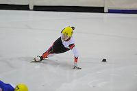 SHORTTRACK: HEERENVEEN: IJsstadion Thialf, 30-01-2015, StarClass 5 (NC-2) Europa Cup, Jeugdwedstrijd (t/m 16 jaar), Antoine CRAIPEAU (#110   FRA), ©foto Martin de Jong