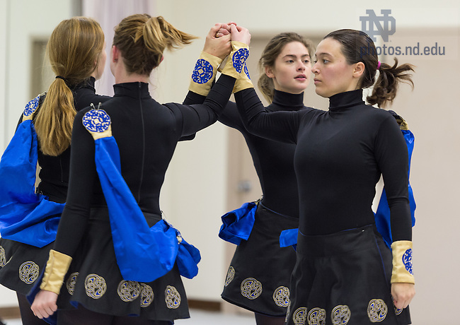 October 27, 2016; Notre Dame and St. Mary's College Irish Dance Team rehearsal. (Photo by Barbara Johnston/University of Notre Dame)