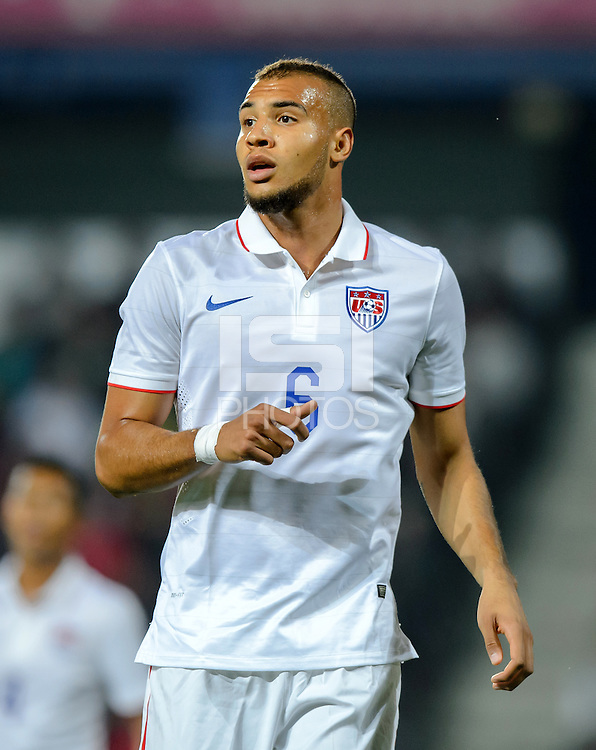 PRAGUE, Czech Republic - September 3, 2014: USA's John Brooks during the international friendly match between the Czech Republic and the USA at Generali Arena.