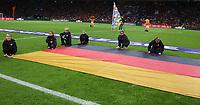 Deutsche Fahne beim Anstoss - 13.10.2018: Niederlande vs. Deutschland, 3. Spieltag UEFA Nations League, Johann Cruijff Arena Amsterdam, DISCLAIMER: DFB regulations prohibit any use of photographs as image sequences and/or quasi-video.